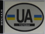 Ukraine Country Flag Oval Decal.